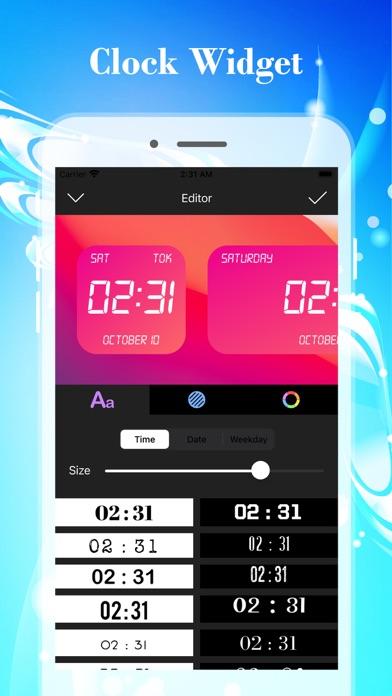 カラーデジタル時計ウィジェットのおすすめ画像5