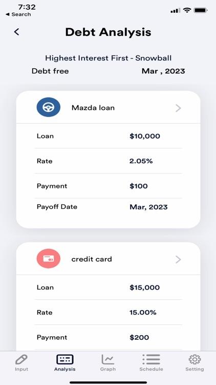 Debt Payoff Plan Calculator screenshot-3