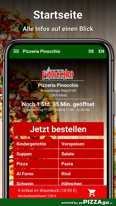 Pizzeria Pinocchio Mölln screenshot 2