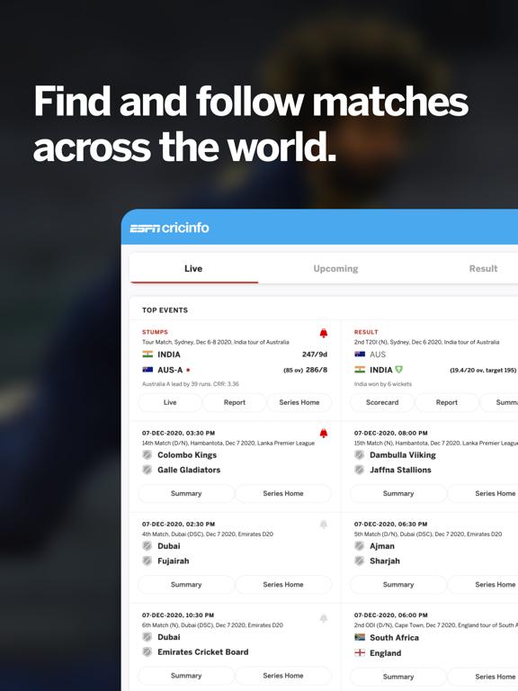 Cricinfo - Live Cricket Scores