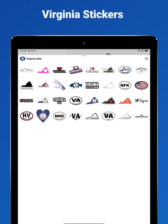 Virginia state - USA stickers screenshot 3