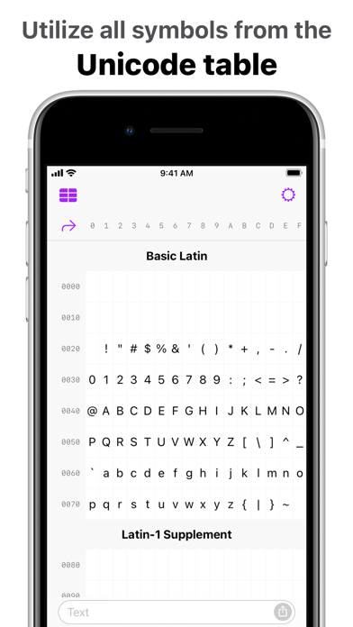 messages.download UniChar — Unicode Keyboard software