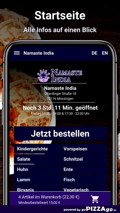 Namaste India Mössingen screenshot 2