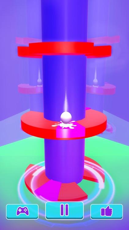 Helix Ball Bounce - Go Up Jump