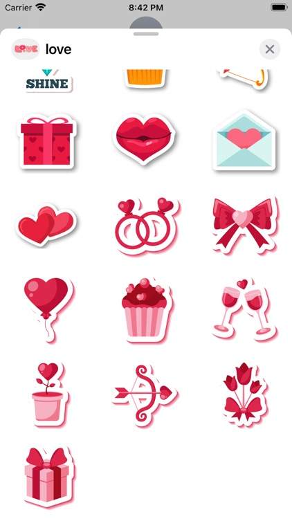 """""""Love"""" - Stickers for iMessage"""
