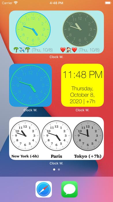 時計ウィジェットのおすすめ画像1