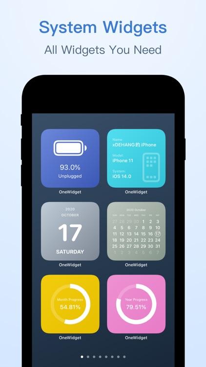 OneWidget - Widgets in One App screenshot-4