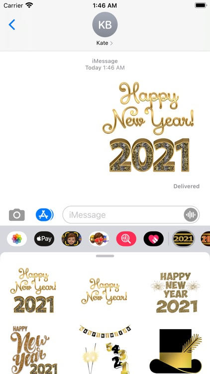 2021 Happy New Year Stickers