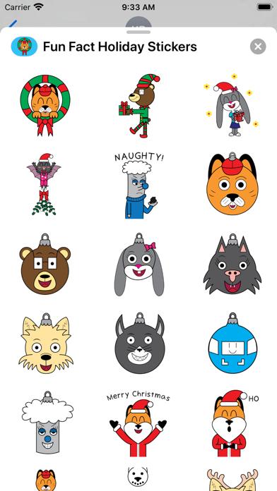 Fun Fact Holiday Stickers Screenshot