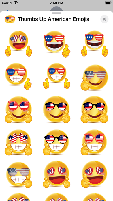 Thumbs Up American Emojis screenshot 6