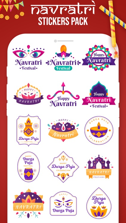 Navratri Stickers!