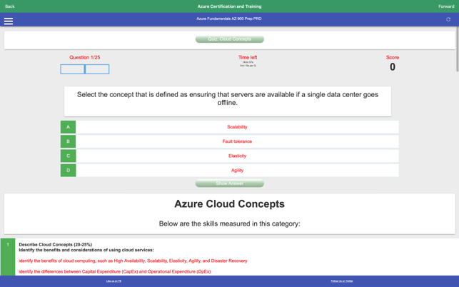 ‎Learn Azure Fundamentals AZ900 Screenshot