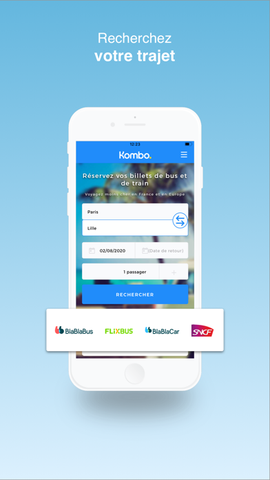 cancel Kombo: Train, Plane & Bus app subscription image 1