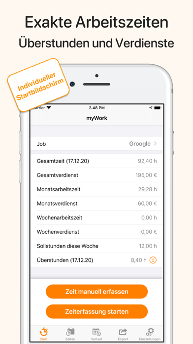 myWork - ZeiterfassungScreenshot von 1