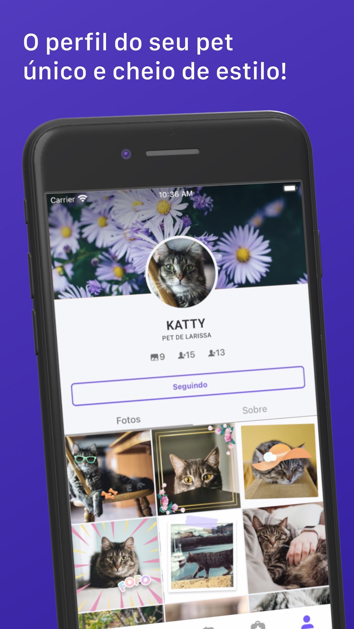 Screenshot do app Flockr - Cuidado animal