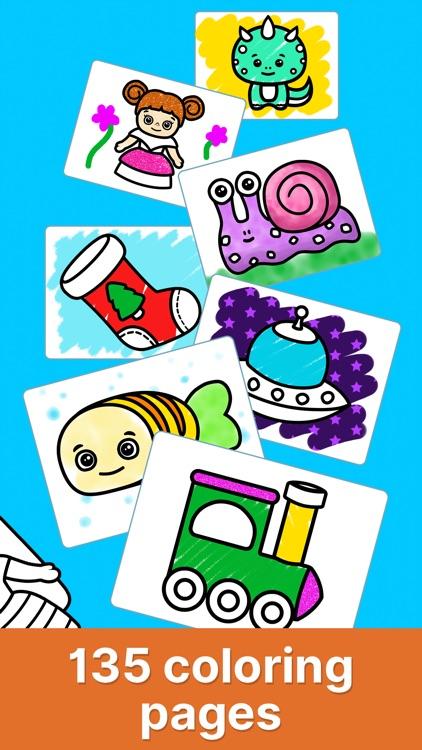 Baby coloring book for kids 2+ screenshot-5