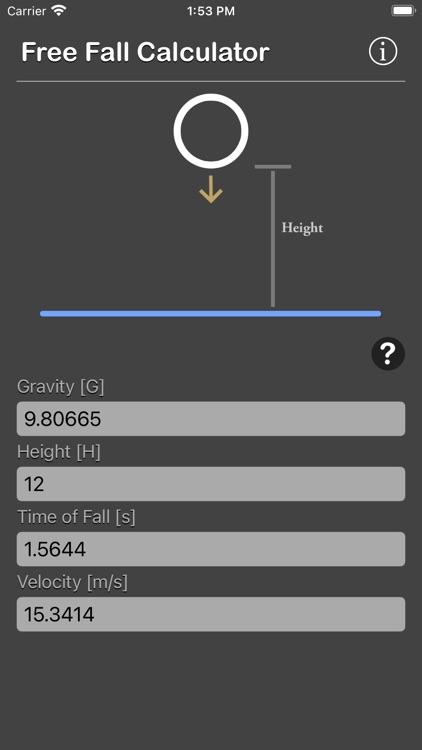 Free Fall Calculator screenshot-4
