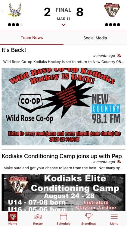 Camrose Kodiaks Official App