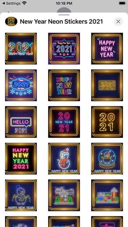 New Year Neon Stickers 2021 screenshot-4