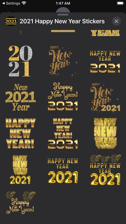 2021 Happy New Year Stickers screenshot-5