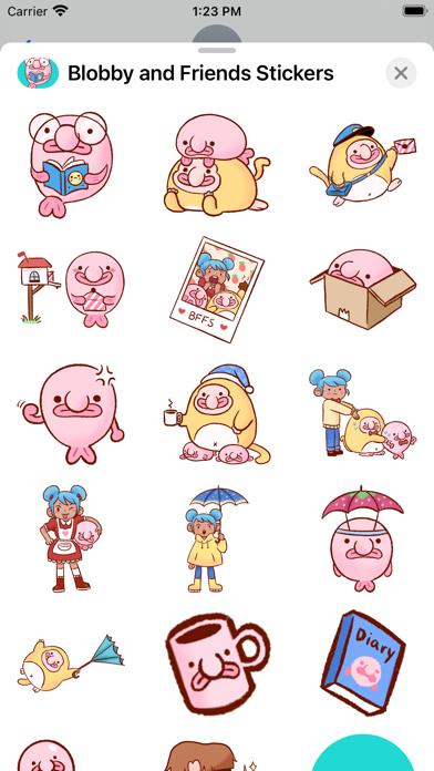 Blobby & Friends Stickers screenshot 3