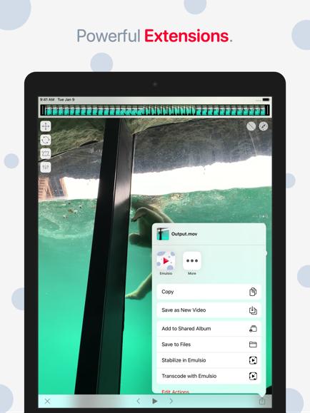 iPhone/iPad Video Stabilizer Emulsio 3.5 Brings New Encoder & Extension Image