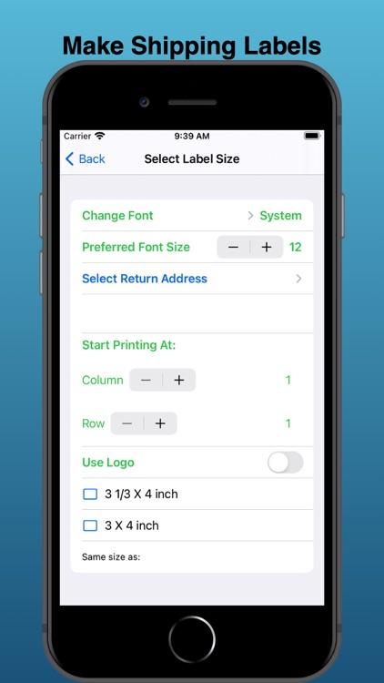 EZ Mailing Labels II screenshot-8