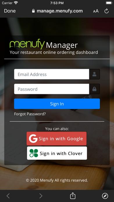 Menufy Business ManagerScreenshot of 3
