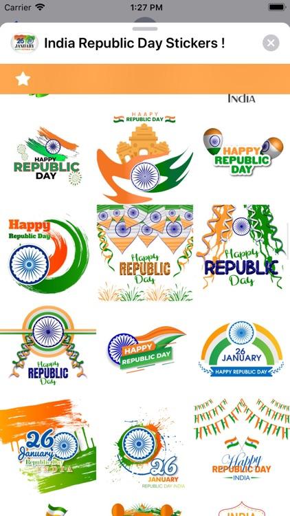 India Republic Day Stickers ! screenshot-5