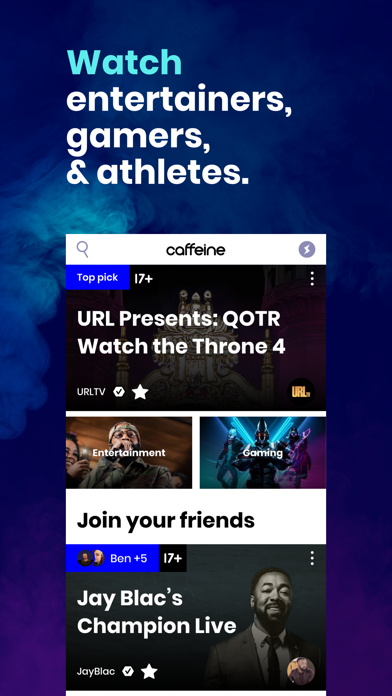 messages.download Caffeine: Live Streaming software