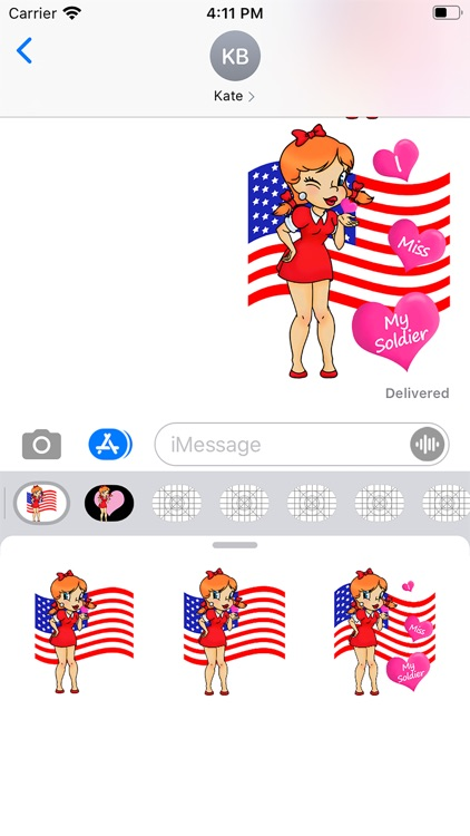 I Miss My Soldier Stickers