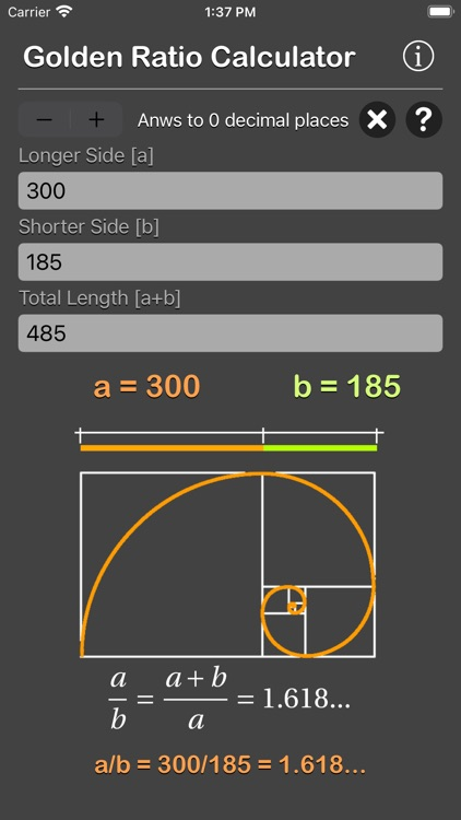 Golden Ratio Calculator Plus screenshot-6