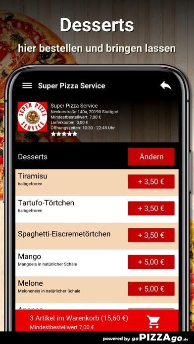 Super Pizza Service Stuttgart screenshot 6