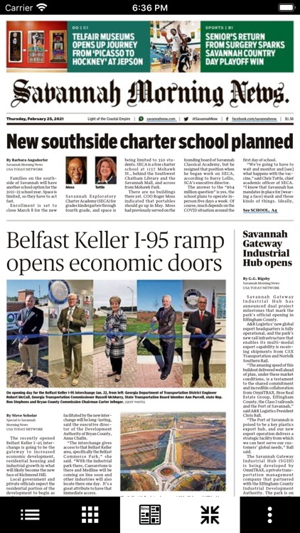 Savannah Morning News Print