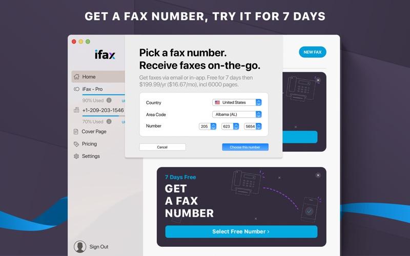 iFax: Send & Receive e Fax App Screenshot