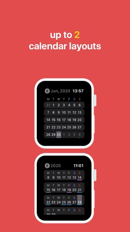 Just Calendar + Complications screenshot-3