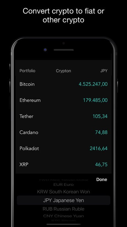 Crypton - BTC Crypto Tracker screenshot-2