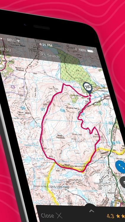 OS Maps: Walking & bike routes