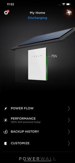 Tesla app screenshot