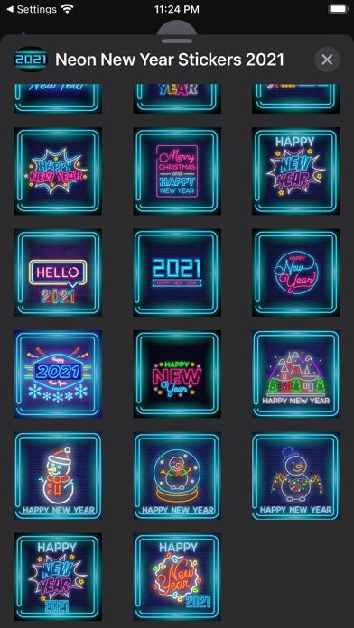 Neon New Year Stickers 2021 screenshot 4