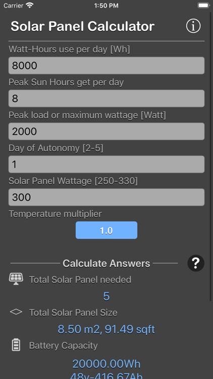 Solar Panel Calculator Plus screenshot-8