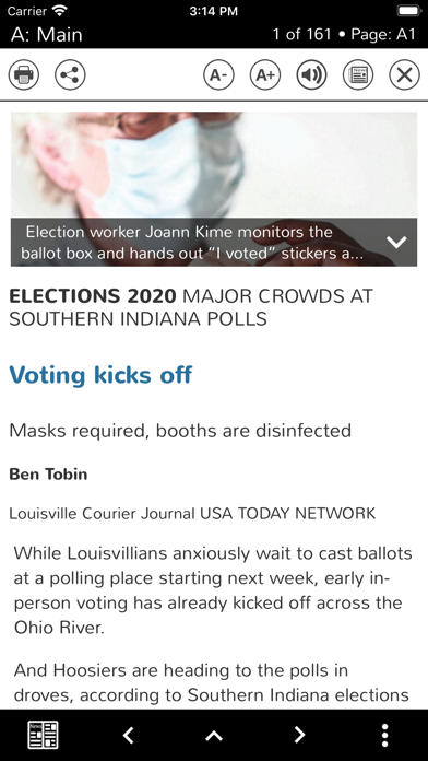 Courier Journal Print Screenshot