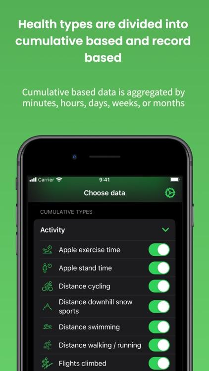 Health Export CSV screenshot-4