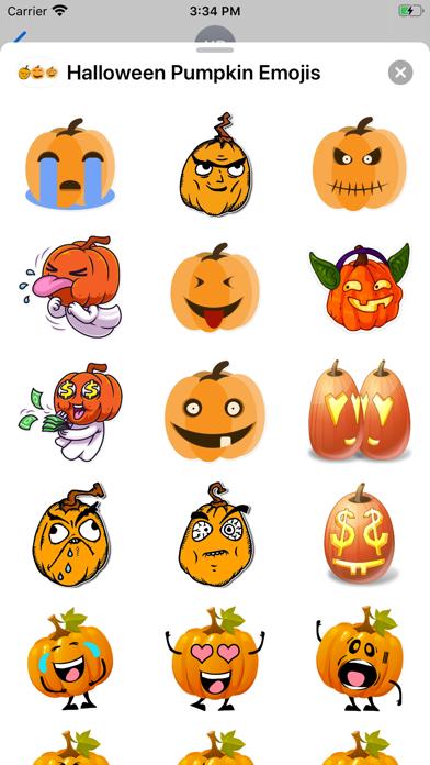 Halloween Pumpkin Emojis screenshot 2