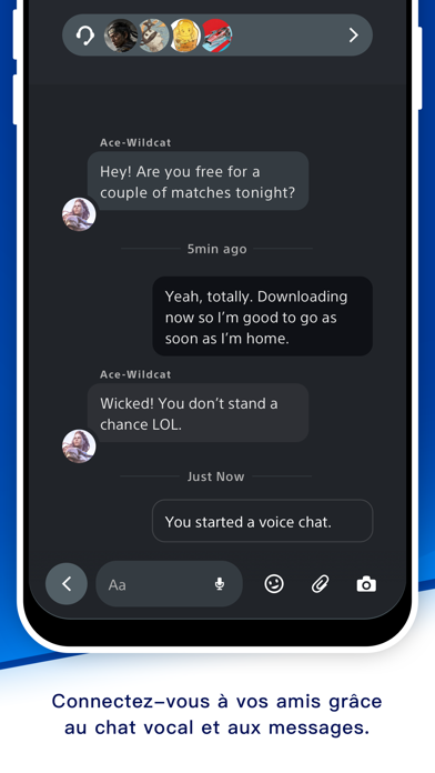 messages.download PlayStation App software