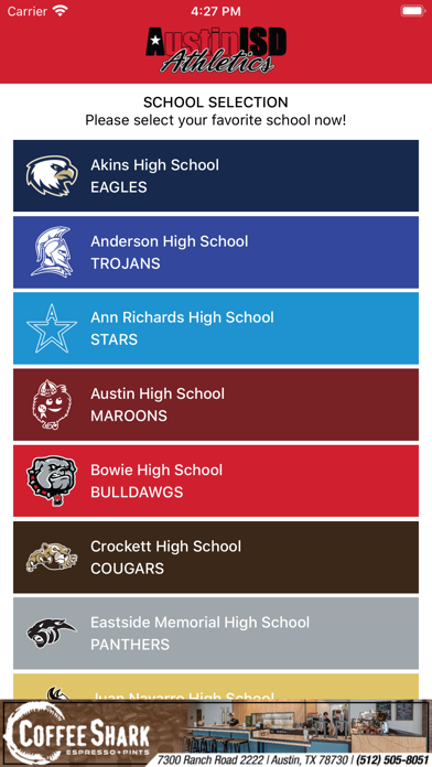 messages.download Austin ISD Athletics software