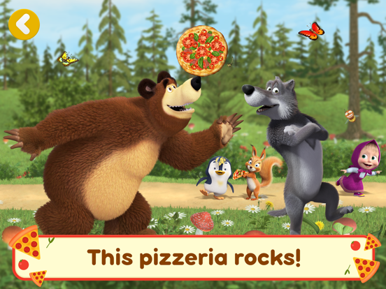 Ipad Screen Shot Masha and the Bear Pizzeria! 5
