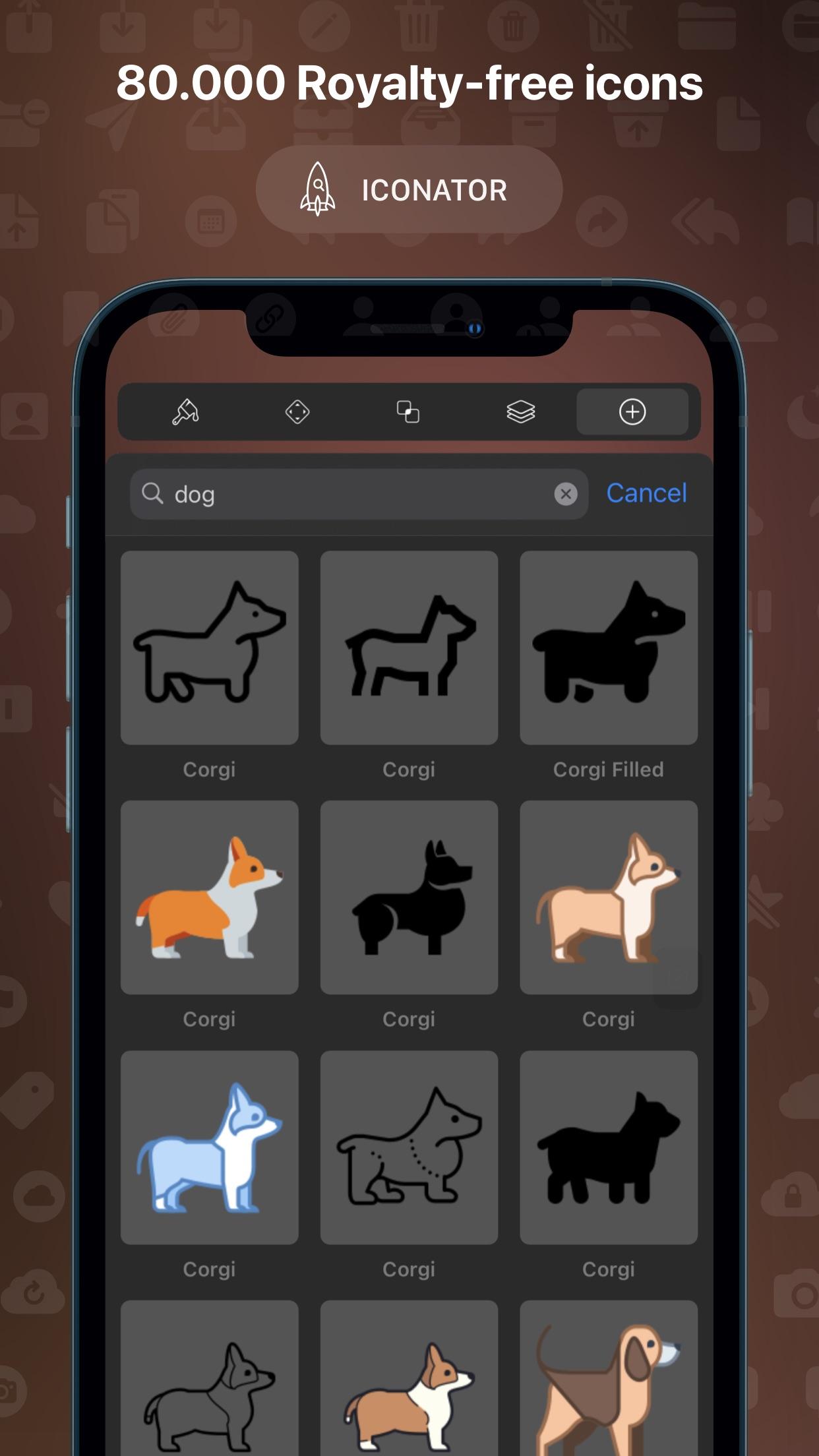 Screenshot do app Vectornator: Design Software
