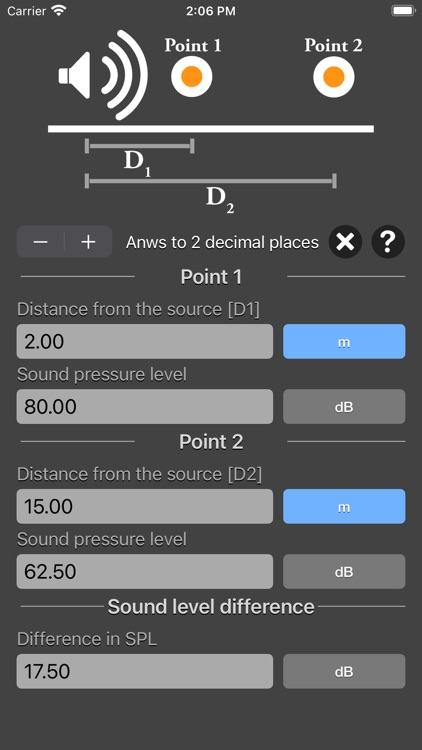 Distance Attenuation Calc