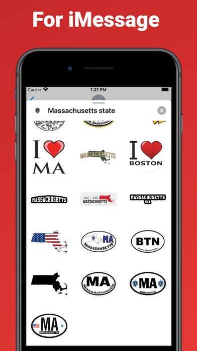 Massachusetts state USA emoji screenshot 3